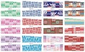 On sale !!   1lot by 10 papers  12  New Style Nail Art Water Sticker Christmas scarf in 2016 for  BN241-252