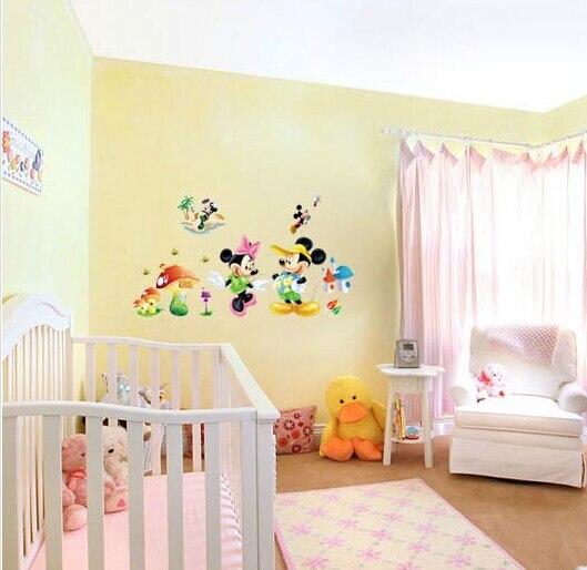 Free shipping Hot sale cartoon kids room decor Minnie&mickey mouse ...
