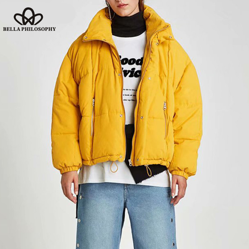 Bright Wonder 2018 New Autumn Warm Jacket Coat Female Long Sleeve Zipper Bomber Baseball Jacket Thick Casual Pocket Outwear Parkas Tops As Effectively As A Fairy Does