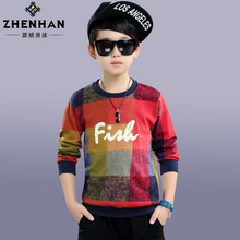 Children Clothes Big Boys and Girls lengthy sleeved T-shirt kids's Plaid Cotton T shirt Fashion Casual Style Teenage Tops zero88