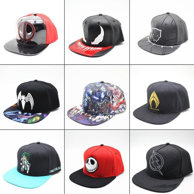 new product 744ee acc99 Marvel Comics Deadpool Venom Black Panther Hat Baseball Hats Outdoor Sunhat  Hip Hop Caps Spider-