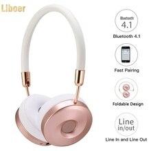 Liboer Headband Headphones High Quality for Music Wireless Headphone Bluetooth with Mic Fashional Headset Girls