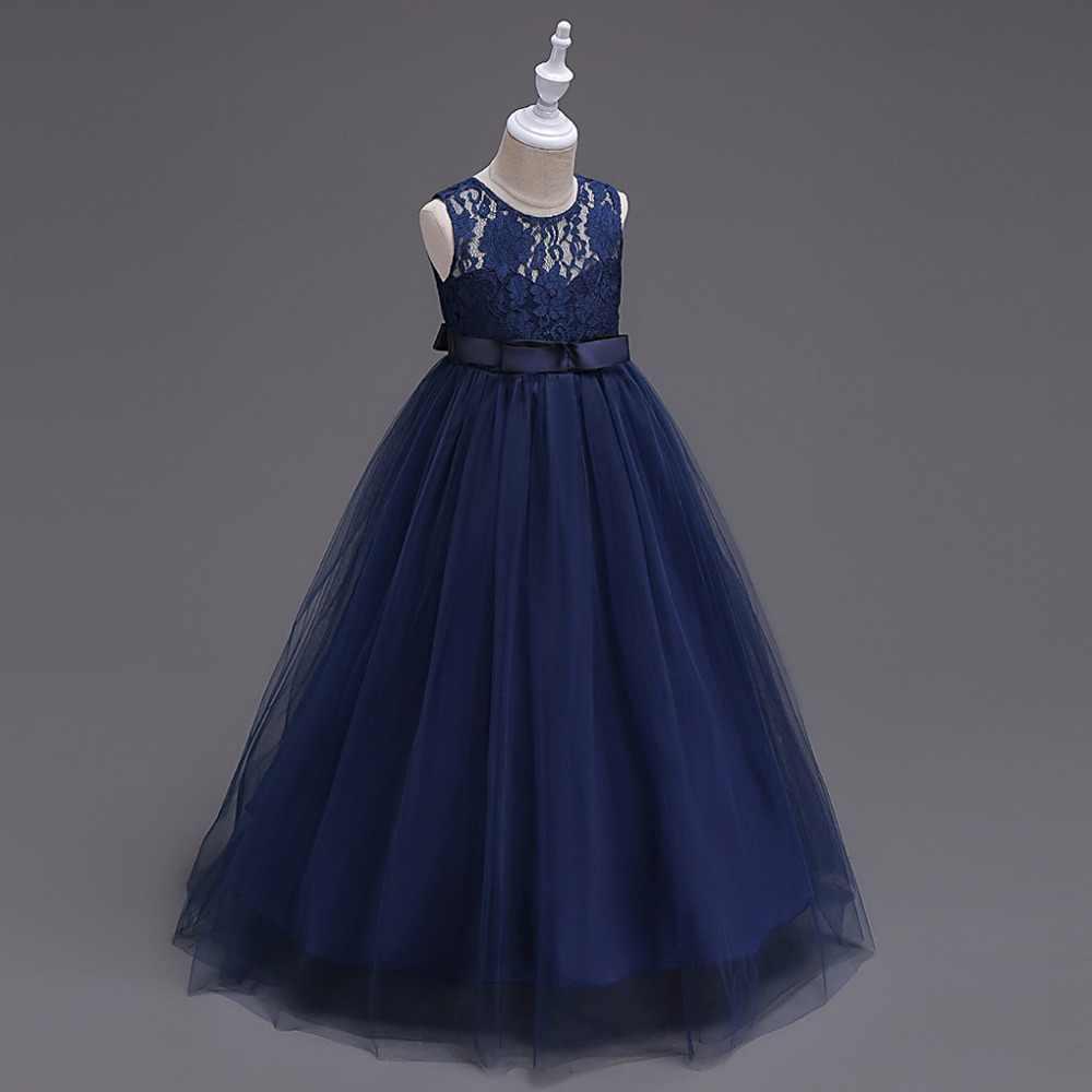 Europeus e Americanos estilo da menina do verão Vestido de Noiva 10 Lace Princesa tutu vestido Da Menina de Vestido de festa elegante para 12 anos de idade as crianças