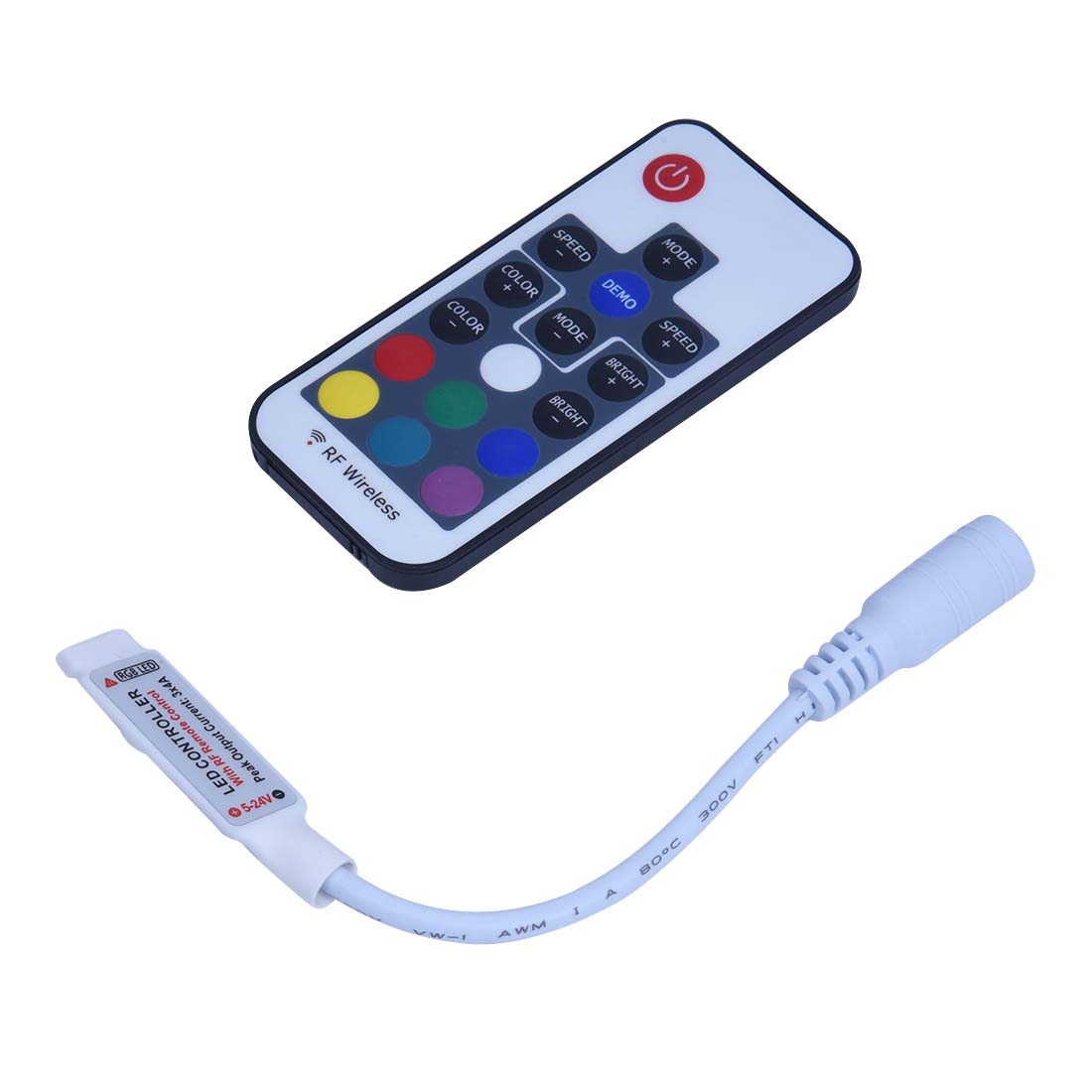 Remote Controller For Strip Tape Stripe RGB LED Lamp Light 12A