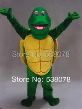 Зеленый костюм черепахи талисман Черепаха для взрослых школьная вечеринка