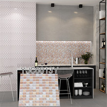 Top Quality Bathroom Kitchen Tile Stickers Decor Wallpaper Free Shipping Easy Remove Wall  9.3x9.3 3D paper bricks