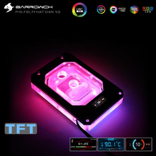 Barrowch CPU Water Block use for AMD Threadripper X399 with dynamic color screen / RGB Light compatible 5V 3PIN Header