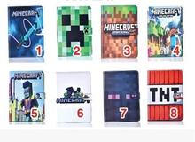 Case for Apple ipad mini4 Minecraft tablet PU leather Cover Flip stand shell coque para