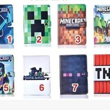 Case for Apple ipad mini4 Minecraft tablet PU leather Cover