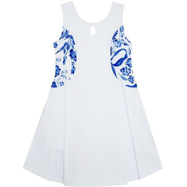 Sunny Mode Blumenmädchen Kleid Blau Weiß Porzellan Blumenmuster ...
