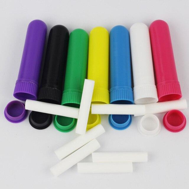 Juego de inhalador Nasal vacío para aromaterapia, juego de inhaladores nasales con mechas, 100 unidades