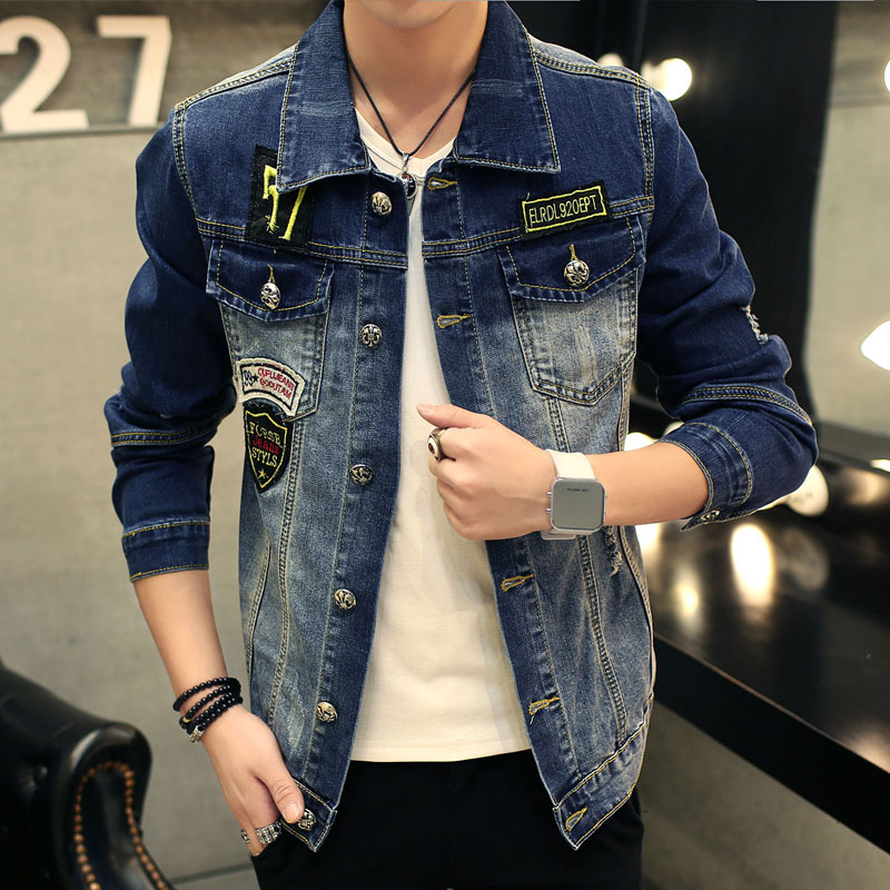 TIGER KNIFE 2017 font b Men s b font Denim Jacket high quality fashion font b