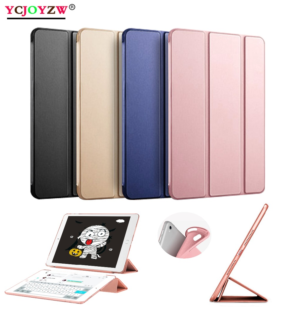 For iPad Pro 9.7 2016 Case : A1673`1674`A1675, Silicone Soft Back + PU Leather Smart Cover for iPad Pro 9.7 inch Case - YCJOYZW cute marshmallow style silicone back case for iphone 5 5s yellow white