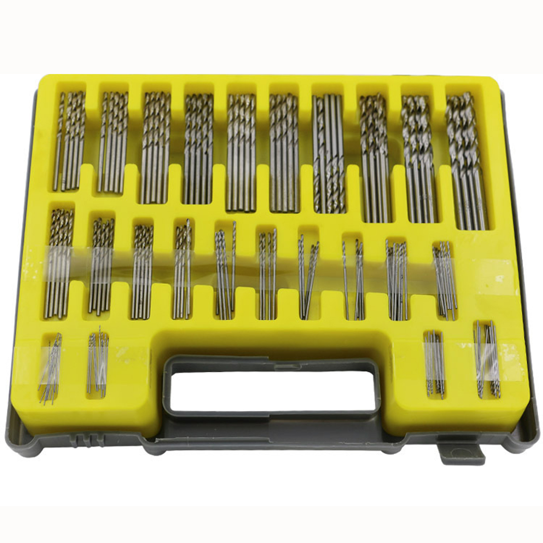 150PCS 0.4-3.2mm Drill Bit Set Small Precision With Carry Case Plastic Box Mini HSS Hand Tools Twist Drill Kit Set