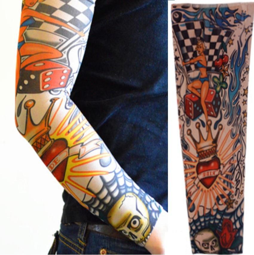 Online buy wholesale nylon tattoo sleeve from china nylon for Fake body tattoos