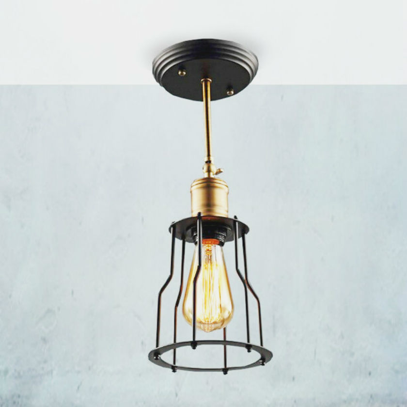 loft vintage industrial lighting copper lamp holder pendant light american aisle lights lamp edison lustre 110v
