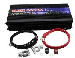 DHL delivery Pure Sine Wave Car Power Inverter 4000W Dc12v/24v To Ac 220v Car Converter Inverters For Solar Boat Home Appliances