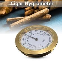 Латунный аналоговый гигрометр сигарный датчик влажности табака и стеклянная линза для гимидоров датчик влажности для курения
