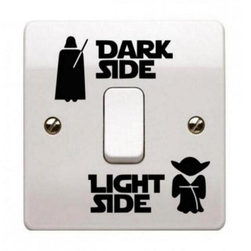 2pcs Star Wars Black Switch Sticker Dark Classic Vinyl Switch Wall Sticker Living Room Bedroom Kids Room Decoration Light Switc