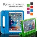 Niños abandonan la resistencia EVA portátil montaje soporte de mano palanca hacia atrás funda de piel para 9.7 pulgadas ipad air3/ipad pro 9.7 tablet