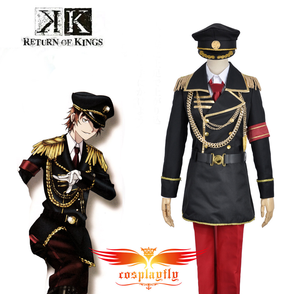 K Anime Return Of Kings Yata Misaki Military Uniform Cosplay Costume  Top Jacket Pants Men Fashion Outfit Clothing For Adult