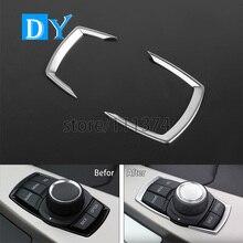 Автомобильный Стайлинг ABS задний аудио переключатель кнопка рамка Крышка Декоративная накладка для BMW 1 2 3 4 серии GT F20 F30 2013-14 Хромированная ручка
