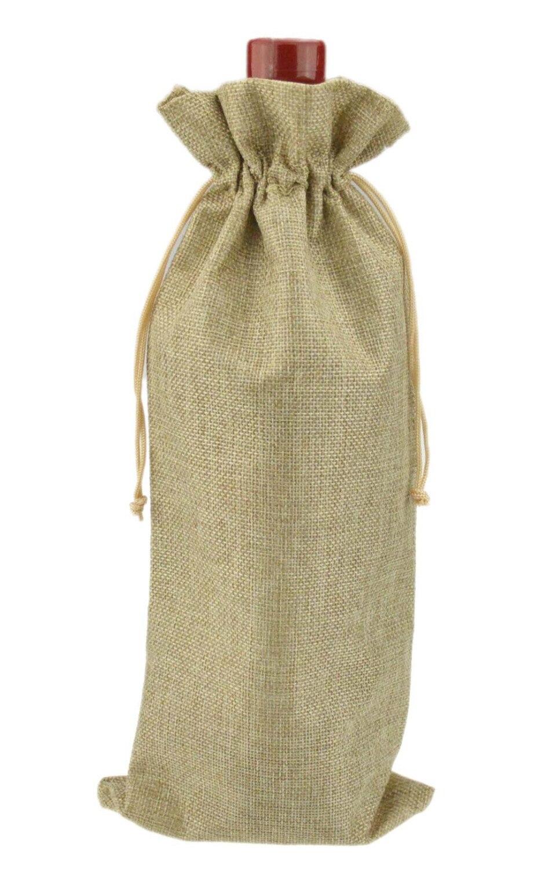 15x35 cm 100 pièces bouteille unique estampage jute vin cadeau sacs vin pochettes mariage bomboniere cadeau sacs-in Sacs-cadeaux et emballages from Maison & Animalerie    1
