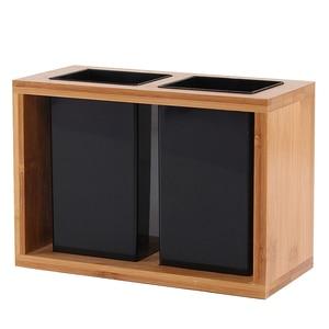 Image 1 - 1 шт., бамбуковый органайзер для сушки столовых приборов