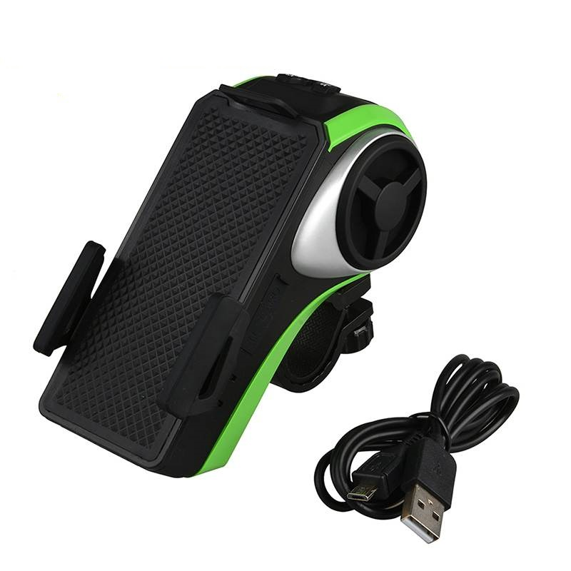 brand new bicycle phone holder bluetooth audio mp3 player speaker bell bike light high quality. Black Bedroom Furniture Sets. Home Design Ideas
