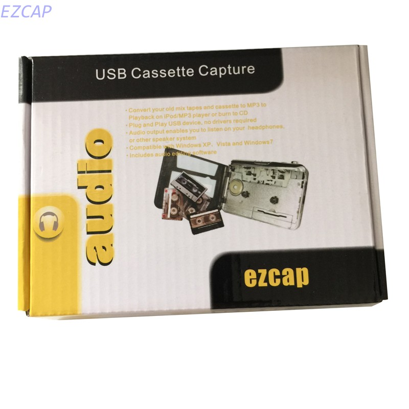 2017 new analog tape cassette recorder convert old cassette tape to mp3 via computer, work for Windows7 8 MAC OS Free Shipping