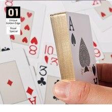 2016 новые золотые игральные карты матовая отделка пластиковая игральная карта техасский холдем покер казино золотые края игральные карты