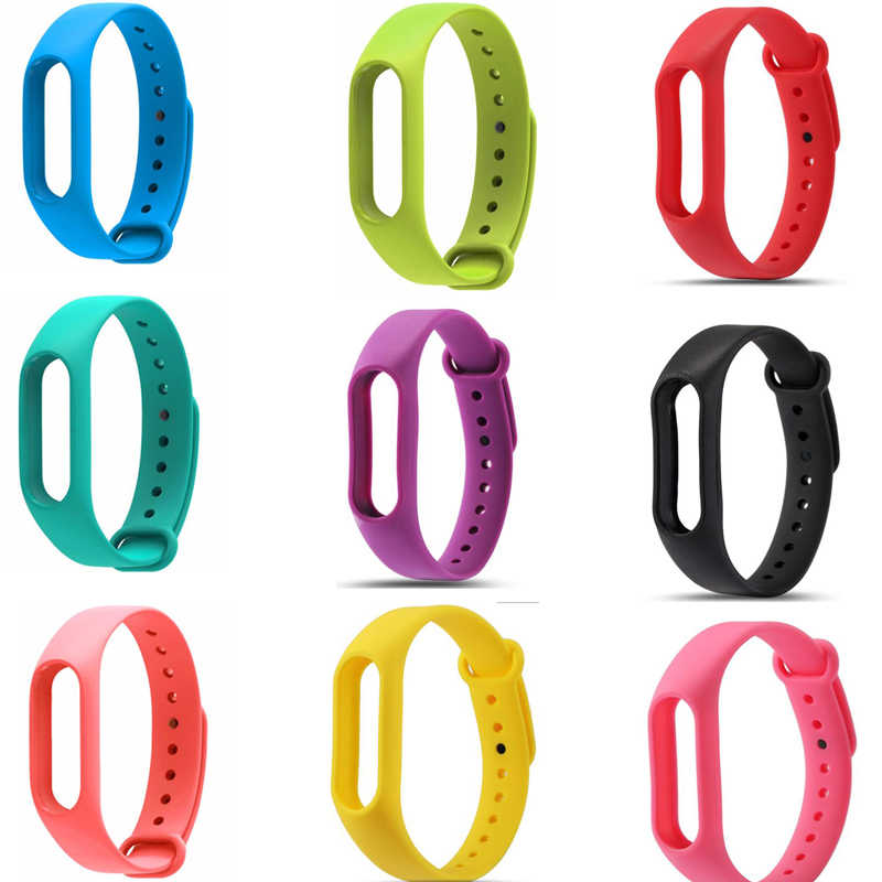 Silicone Straps Replacement For Xiaomi Mi Band 2 Wrist Strap Miband 2 Smart Wristband miband 3 Bracelet