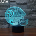 3D LED NFL LOGO Shape USB Table lamp Touch 7 Colors Pittsburgh Steelers illusion Lampara Desk Lamps For Children Fans Night Lamp
