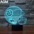 NFL LOGO USB de la Forma 3D LED lámpara de Mesa Táctil de 7 Colores Pittsburgh Steelers ilusión Lampara Lámpara de Noche Lámparas de Escritorio Para Niños Ventiladores