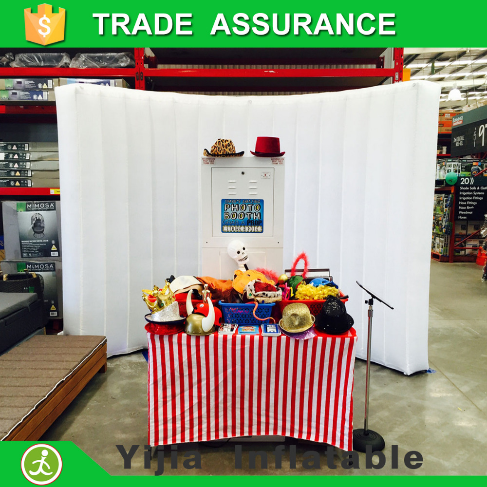 free shipping led lighting photobooth font b backdrop b font inflatable photo booth wall