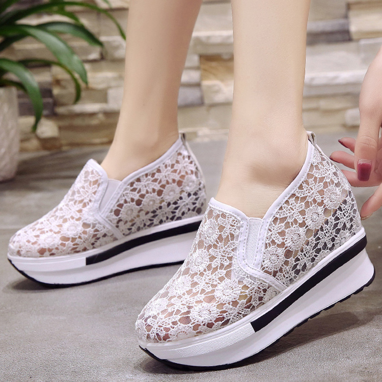 2018 top fashion flats ventilate casual shoes hollow out women shoes sneakers platform shoes loafers comfortable 39 female shoes