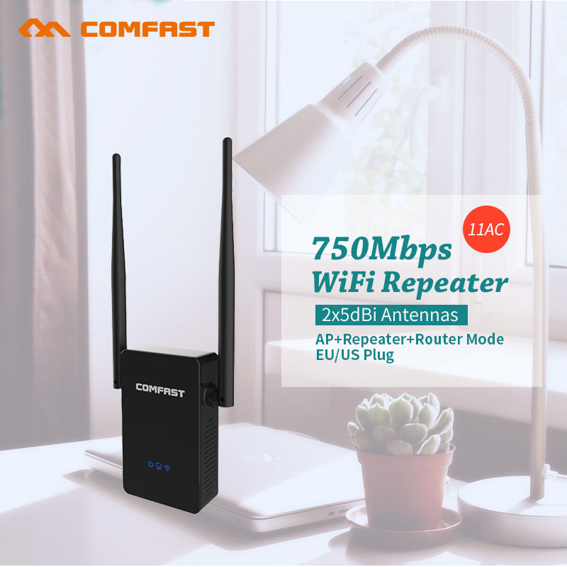 Comfast Dual Band 750Mbps Wifi Repeaters Roteador 802.11AC Wireless Router 2.4GHz +5GHz CF-WR750 AC Wi fi Signa Extend Amplifier