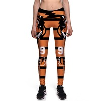 NEW 0041 Fashion Sexy Girl Women NF L Football Rugby Jaguars Tiger 3D Prints High Waist