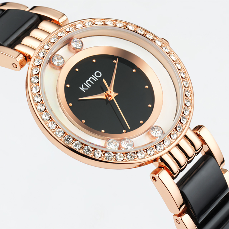 KIMIO Brand Relojes mujer Quartz watches women Luxury Diamond Rhinestones  Dress girl Bracelet watch Ladies clock female watches-in Women s Watches  from ... e3883d815bf1