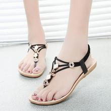2017 Beach Summer Shoes for Woman Simple Non-slip Women's Sandals Black White Sandalias Mujer Mental Flip Flops Zapatos Femme