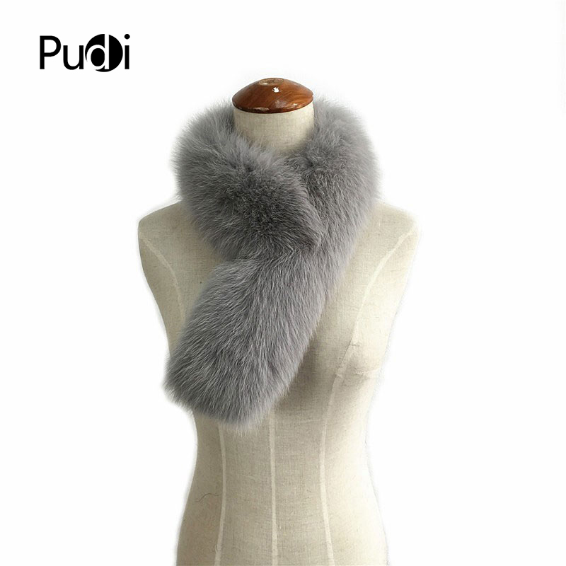 SCF031 Real fox fur   scarf   women fashion genuine Fur   Scarves     Wrap   Neck Warmer Shawl Collar