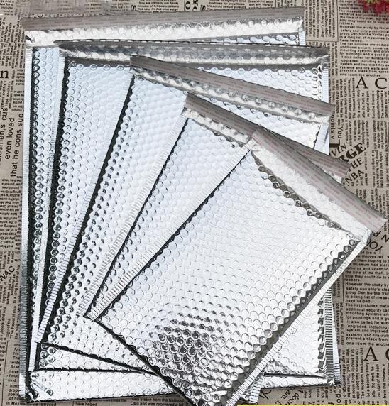 Ev ve Bahçe'ten Hediye Çantalar ve Sarma Malzemeleri'de Gümüş Zarf Folyo Kabarcık Posta Çantası Kabarcık Posta Nakliye Ambalaj Poşetleri 200 adet/grup Ücretsiz kargo'da  Grup 1
