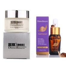 Dimollaure Strong effect whitening cream + snail serum anti-aging Moisturizing Remove Freckle melasma pigment Melanin sunburn
