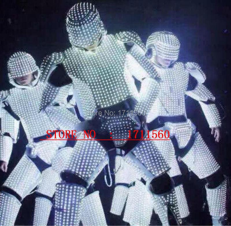 Nouveau Costume de robot de LED/costumes de lumières de LED/vêtements de LED/costumes légers/costumes de Robot de LED