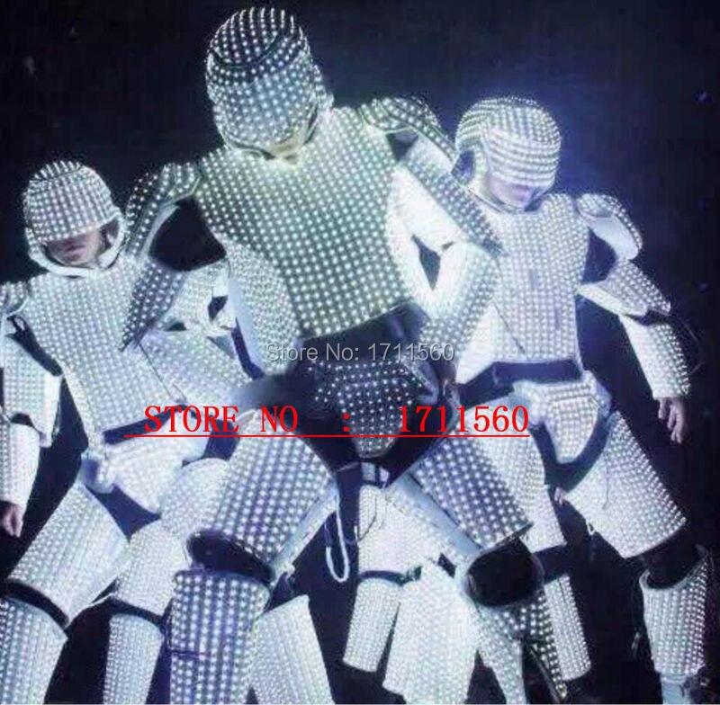 ny LED-robot Kostym / LED-lampor / kostymer / LED-kläder / Ljusdräkter / LED-robotdräkter
