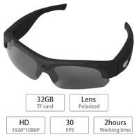 1080P HD Interchangeable Polarized Lenses Sunglasses Camera Video Recorder Sport Sunglasses Camcorder Eyewear Video Recorder