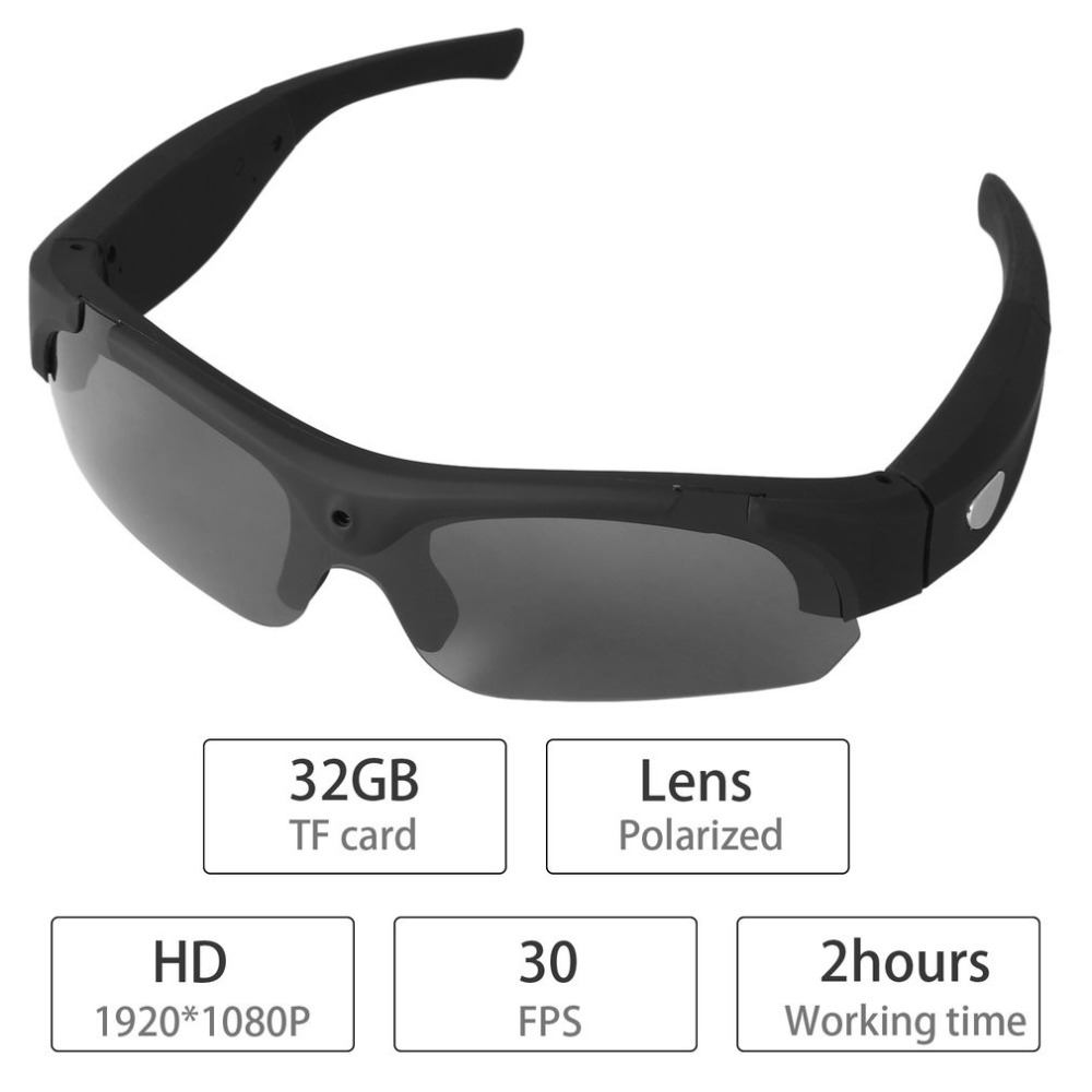 1080P HD Interchangeable Polarized-lenses Sunglasses Camera Video Recorder Sport Sunglasses Camcorder Eyewear Video Recorder 3pcs ds sd20 sd20 ds sd20 batteries for aee magicam sd18 sd19 sd20 sd21 sd22 sd23 sd30 rollei 3s action sports cameras