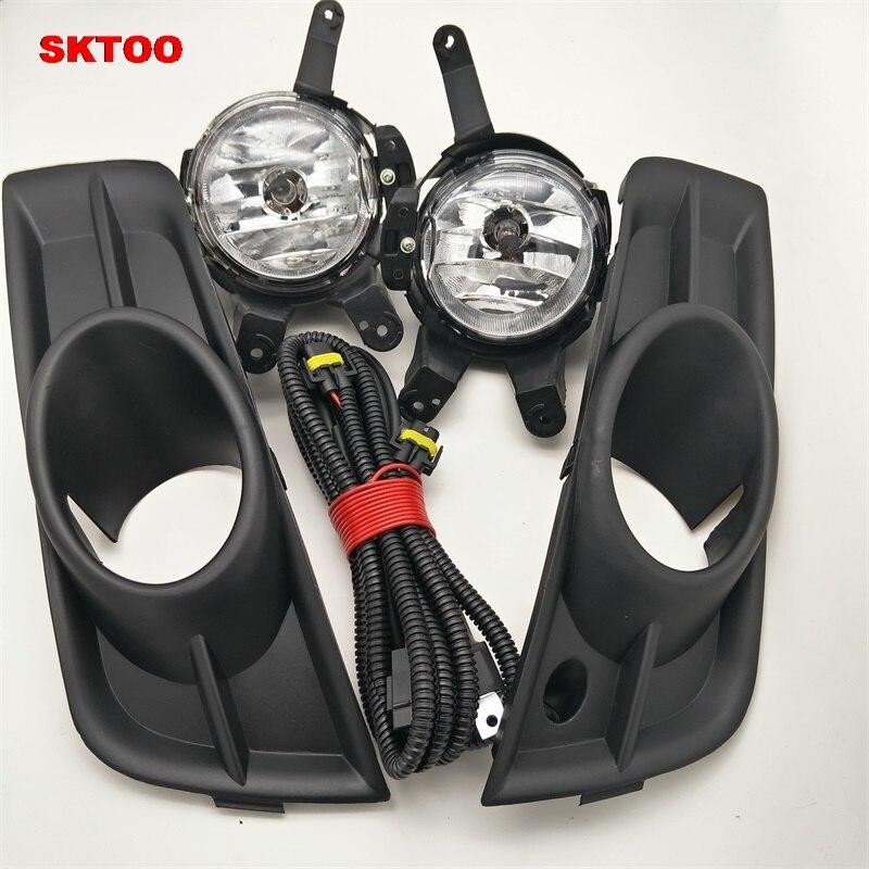 SKTOO Car Fog Light For Chevrolet Cruze 2009 2010 2011 2012 Left And Right Fog Lamp With Switch Harness Covers Fog Lamp Kit