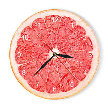 Yellow Lemon Fruit Wall Clock Lime Modern Kitchen Clock Watch Home Decor Living Room Clock Tropical Fruit Wall Art Timepieces