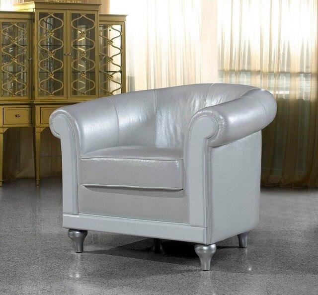 Diseño moderno top graduado cuero real relajante contemporáneo silla ...